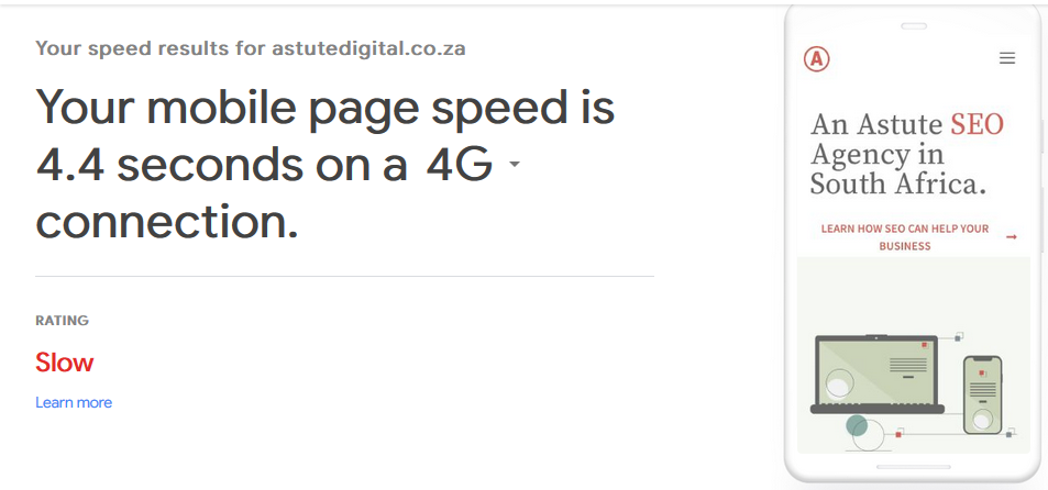 Test My Site, provides a lot more than mobile speed tests.